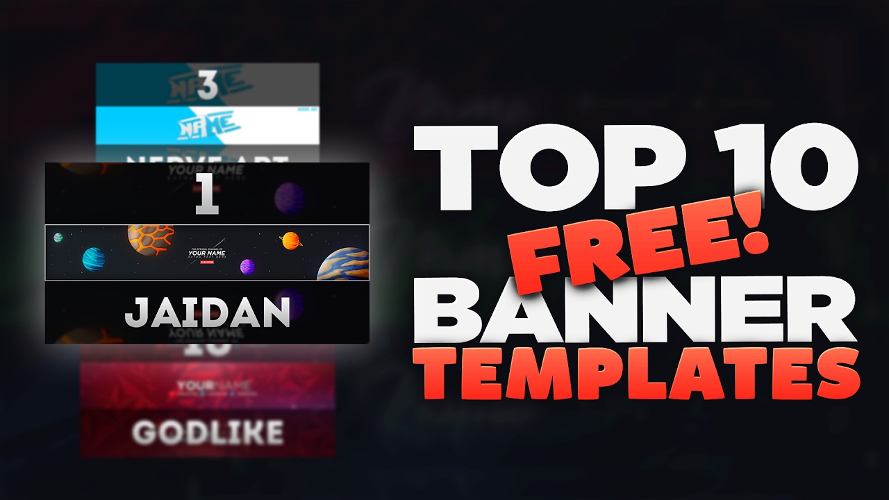 Top 10 Free Banner Template 4 Free Download 2017 Youtube