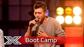 Christian Burrows performs with Sacha Taylor and James Craise  | Boot Camp | The X Factor UK 2016