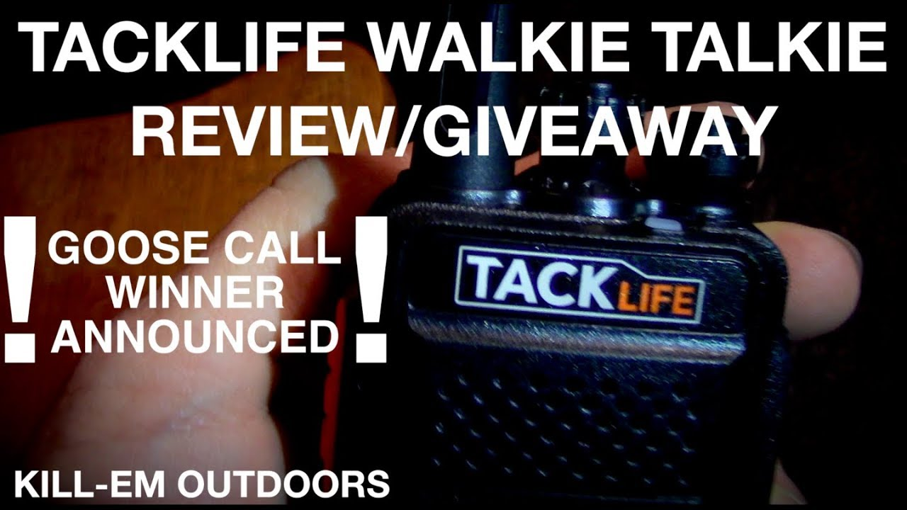 Tacklife Walkie Talkie Review and Giveaway (Goose Call ...