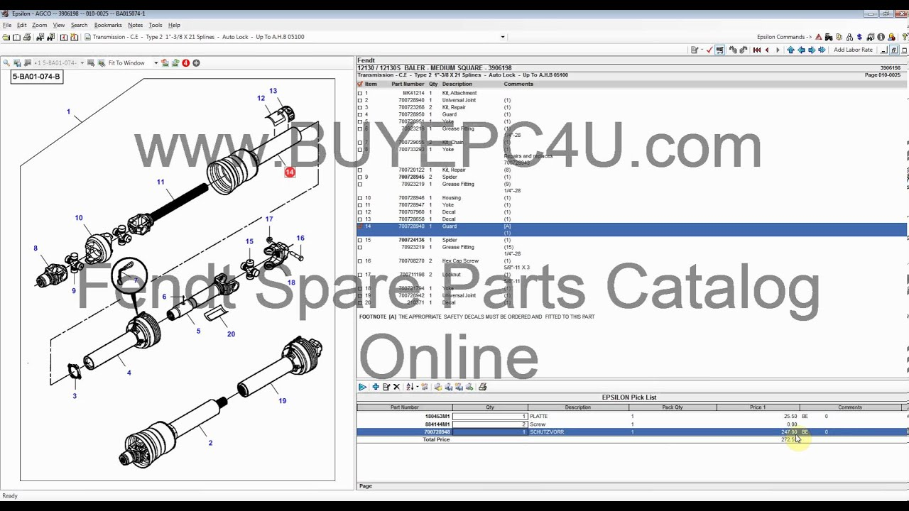 Fendt 2012 Spare Parts Catalog Online Download - YouTube