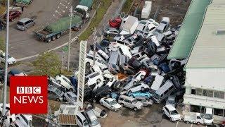 Japan's Typhoon Jebi leaves destruction in its wake - BBC News
