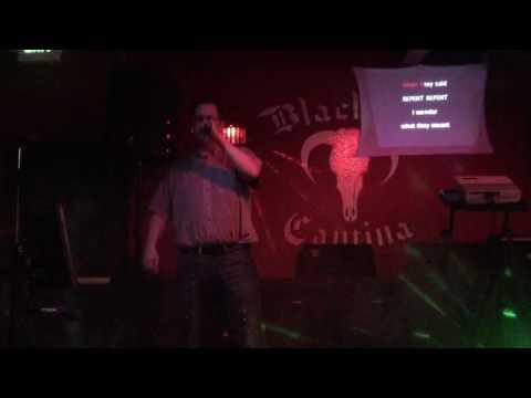 "Jim P singing Leonard Cohen's ""The Future"" at karaoke."