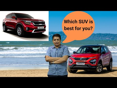Kia Seltos Vs Tata Harrier - See which SUV is better? (Hindi review)