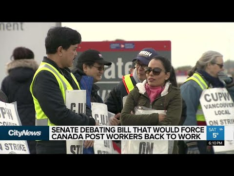 Senate debating bill to end Canada Post strikes