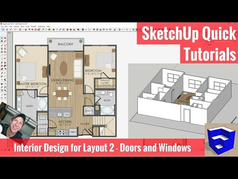 SketchUp Interior Design for Layout Part 2 - Doors and Windows