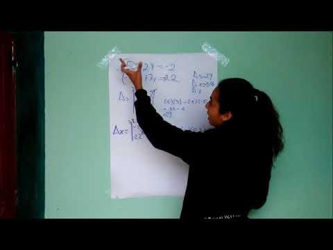 """Sistma de ecuaciones líneales por método de """"CRAMER"""""""