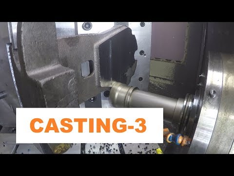 Casting-3 programming,  fixturing and machining of opperation one.