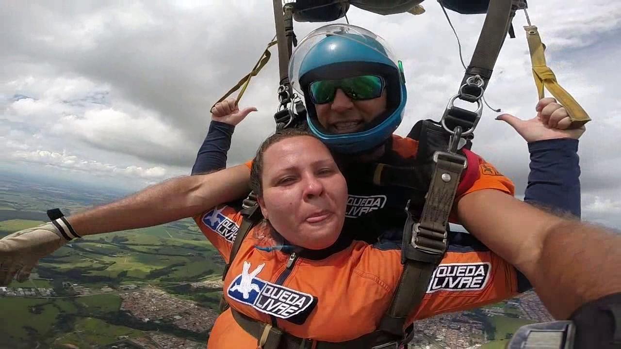 Salto de Paraquedas da Kedley na Queda Livre Paraquedismo 07 01 2017