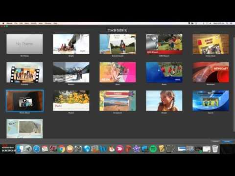 How to make a slideshow using iMovie