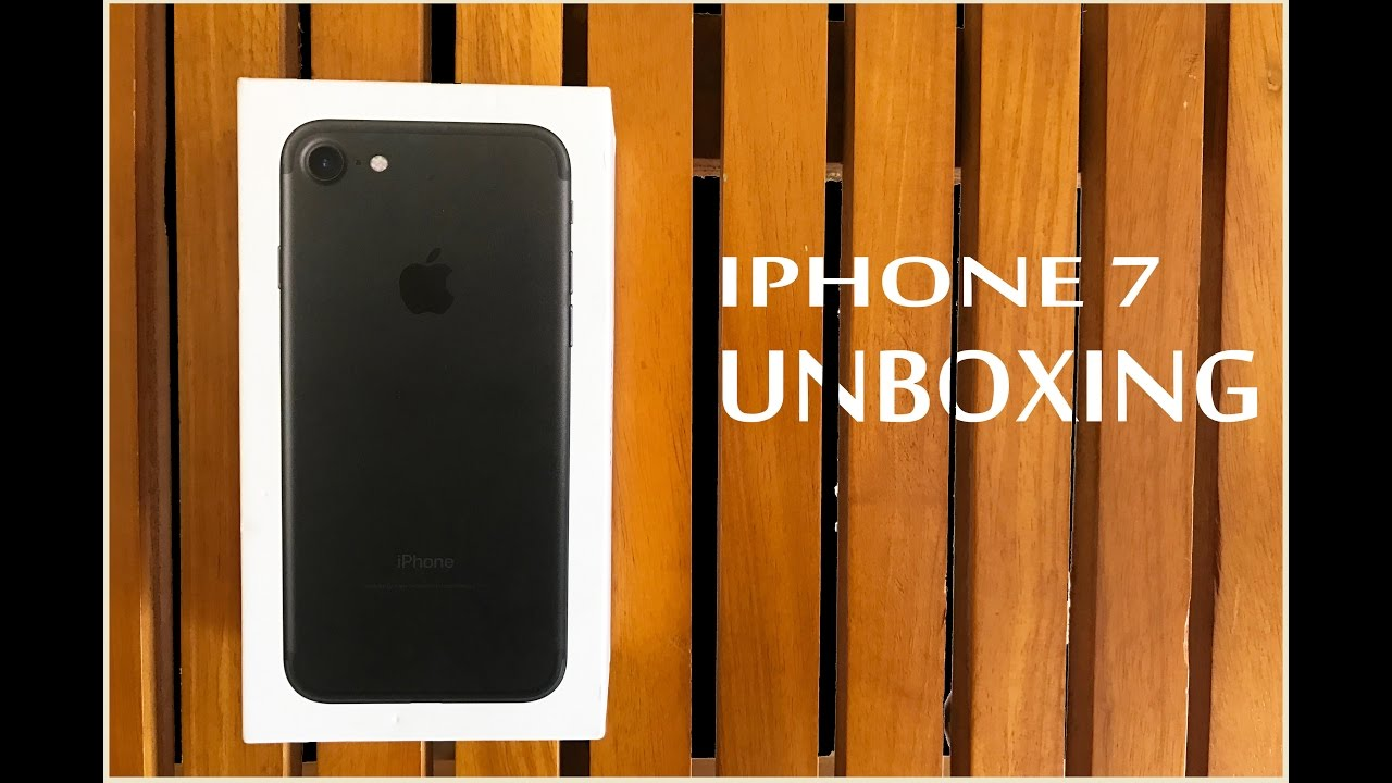IPHONE 7 UNBOXING !!! - YouTube