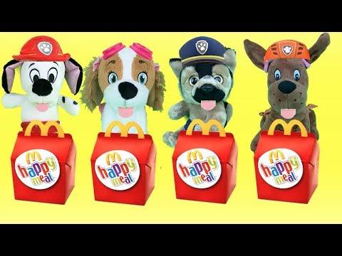Paw patrol español mcdonalds-fiesta happy meal-juguetes sorpresas para patrulla canina bebes.Videos
