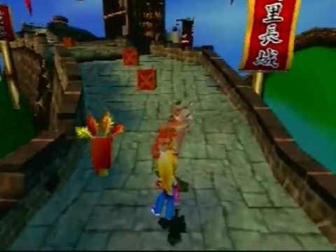 Crash Bandicoot 3: Warped - Level 3: Orient Express (Crystal/Gem Get)