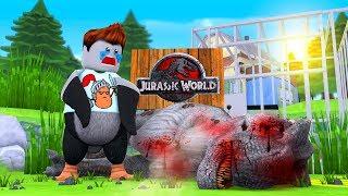 Roblox - I KILLED INDOMINOUS REX!? (Roblox Dinosaur Simulator)