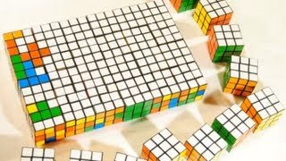 Playing Tetris With Rubik's Cubes: Stop Motion!