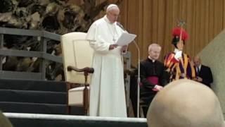 Papa Francesco ringrazia Scurelle e il Trentino per l'albero di Natale