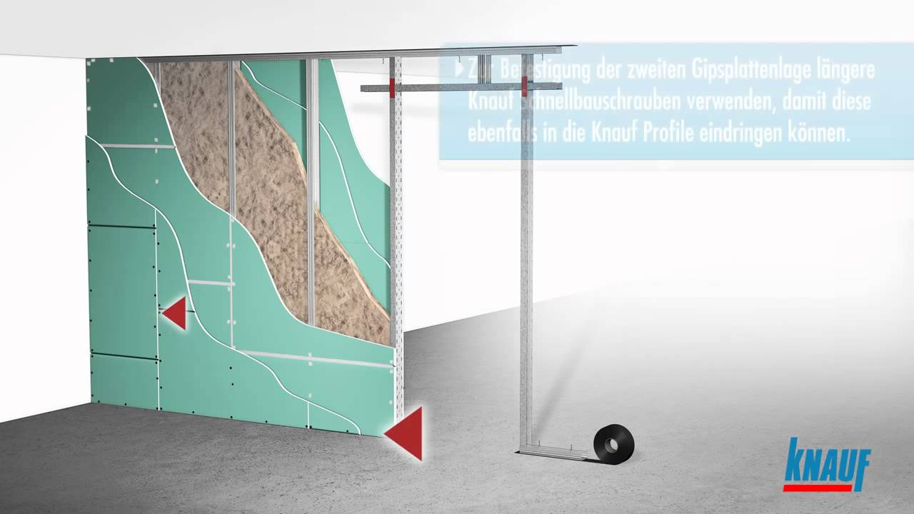 Turbo Knauf Trockenbauwand - YouTube WR54