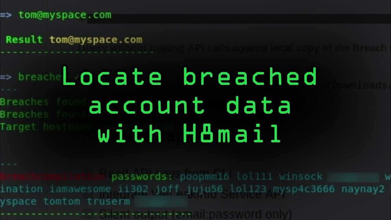 How to Exploit Recycled Credentials with H8mail to Break