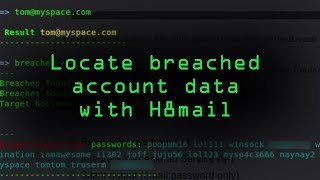 Locate Breached Account Data with H8mail [Tutorial] thumbnail