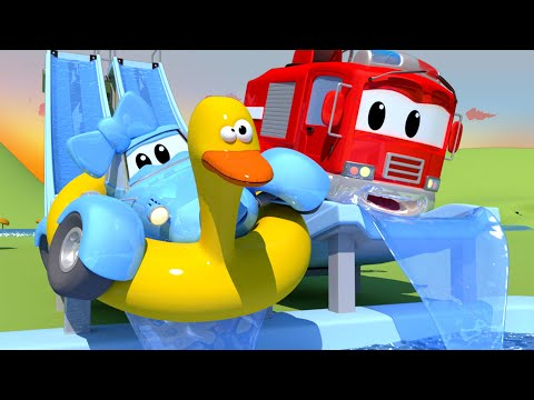 The Flume The Car Patrol In Car City Police Car Fire Truck For