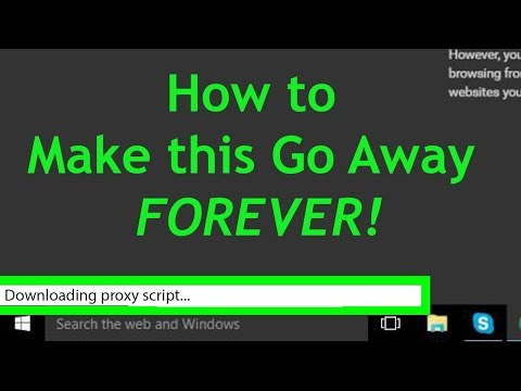 "How to fix ""Downloading Proxy Script..."" Error on Chrome"