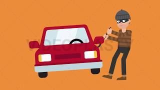 Criminal Stealing Car Animation [MOV & GIF]