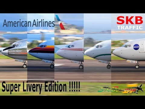 Super Livery Edition !!! American Airlines 737-800 Departures @ St. Kitts Airport