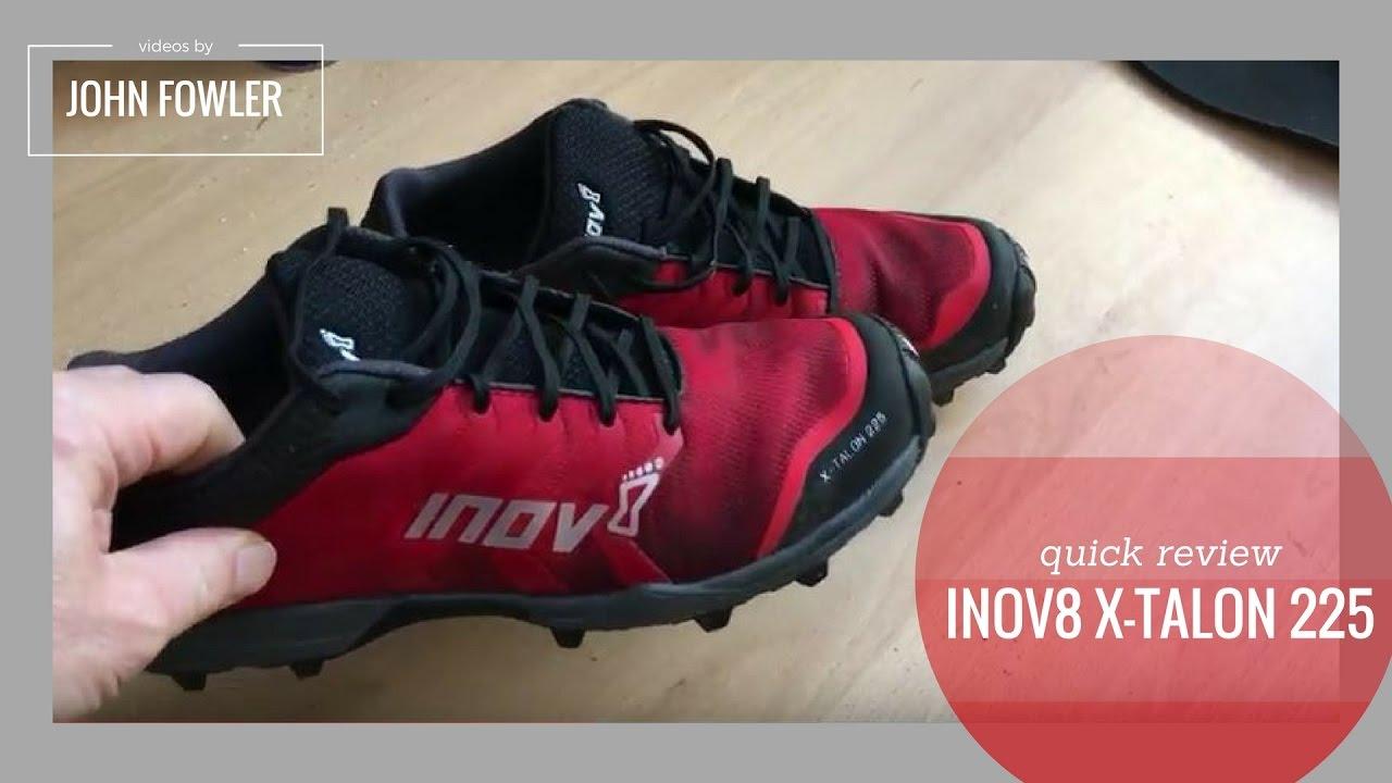 3003b97f99cb1 Inov8 X-Talon 225 Trail Running Shoes Quick Review