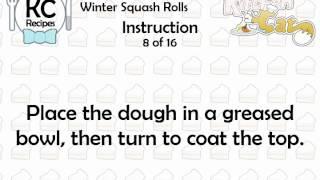 Winter Squash Rolls - Kitchen Cat