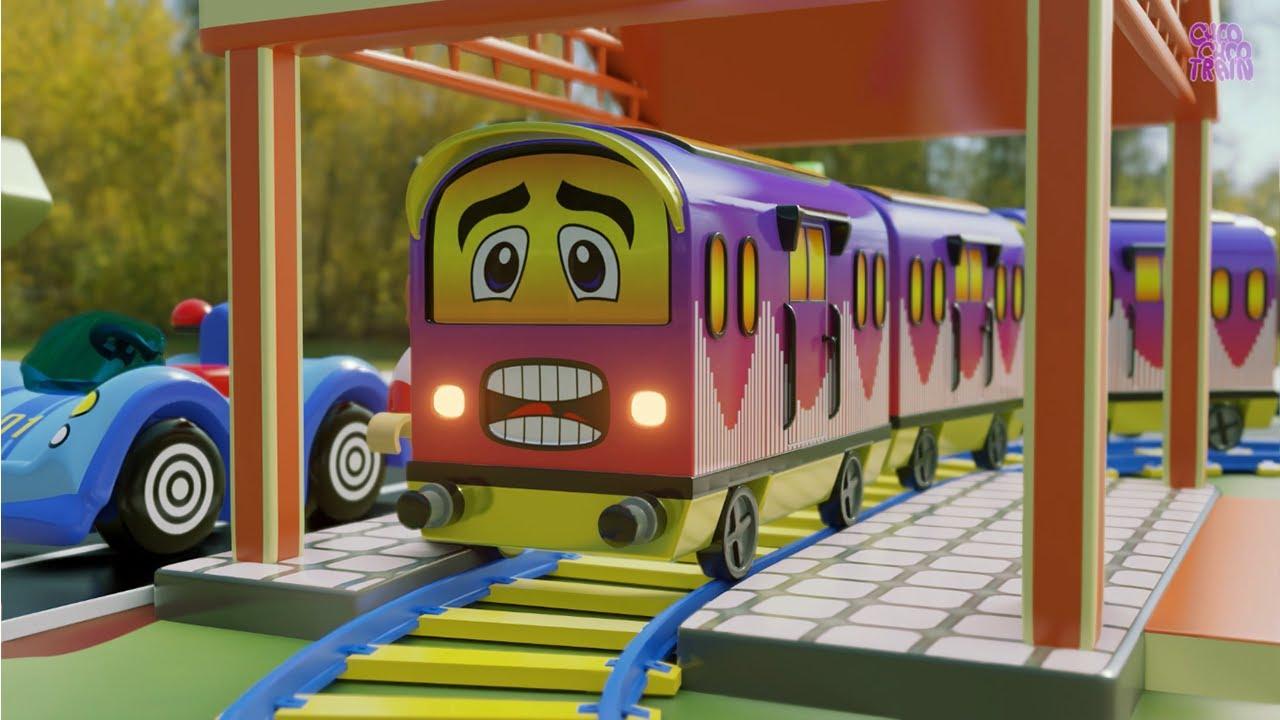 Let's Build a Bridge For Toy Train - Toy train set - Choo choo train kids videos