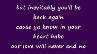 Repeat youtube video Mariah Carey - Always Be My Baby (lyrics)