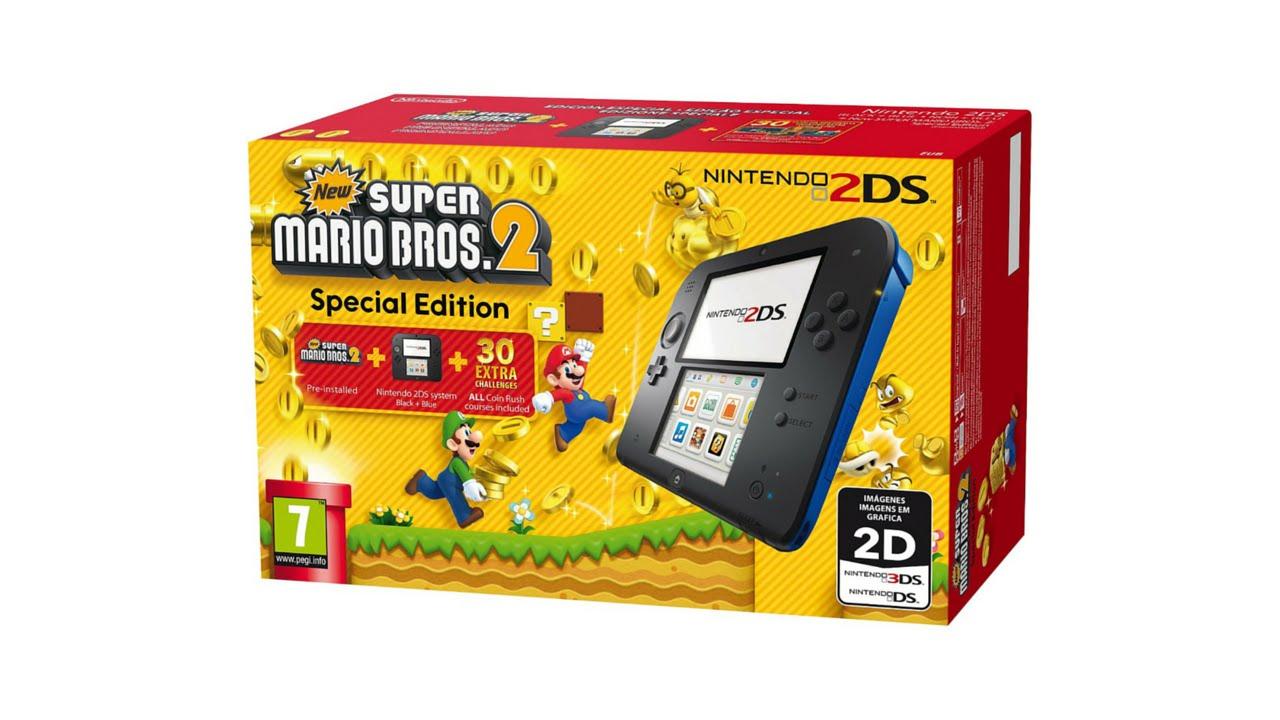 Nintendo 2ds New Super Mario Bros 2 Bundle Unboxing E News Del