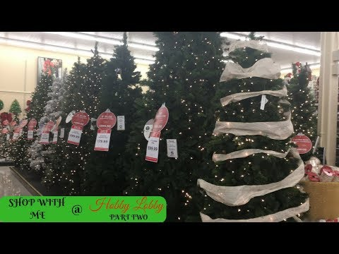 HOBBY LOBBY SHOP WITH ME PART 2!!! LOTS OF NEW CHRISTMAS DECOR!!