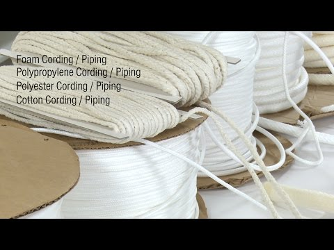 Cording Welting / Piping - Selection Guide