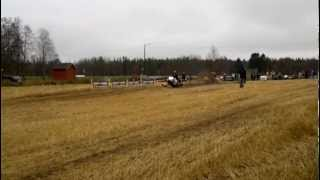 Snowmobile dragrace at Muhos 13.10.12