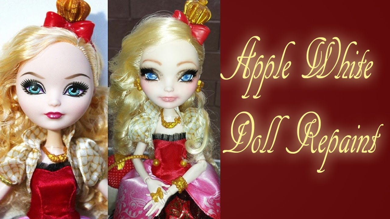 Ever After High Doll Apple White Repaint Youtube