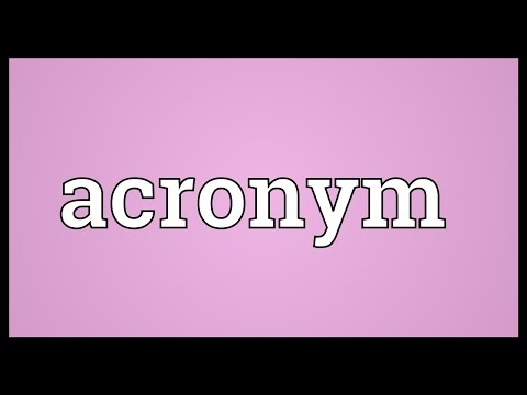 Acronym Meaning