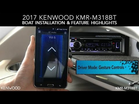 KENWOOD KMR-M318BT 2017 Boat Installation  Feature Highlights - YouTube