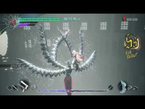 Devil May Cry 5 - Dante vs Bloody Palace Goliath / Artemis / Malphas No damage - DMC5 thumbnail