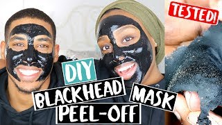 DIY BLACKHEAD REMOVER PEEL OFF MASK WITH MY BROTHER!! | Aysha Abdul