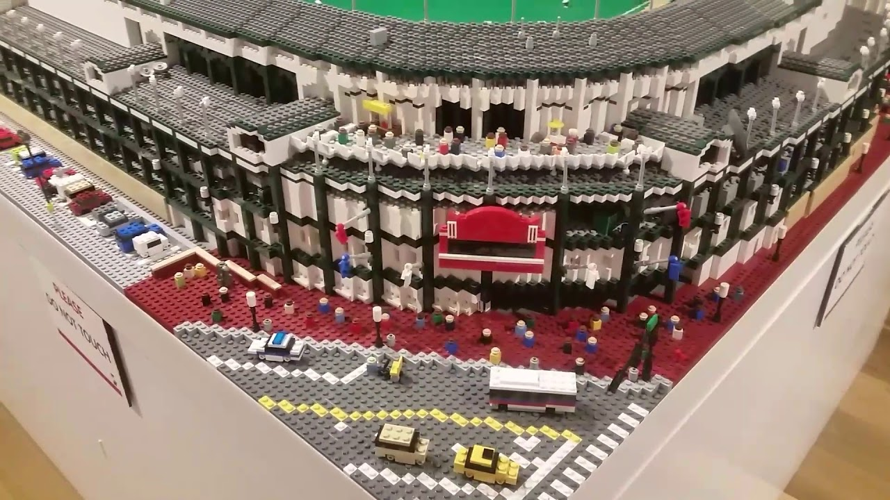 2ba14f2021f Wrigley Field Chicago Cubs Stadium in Legos  Louisville Slugger Museum