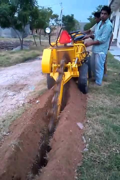 Trenching Machines Working : Micro trenching india youtube