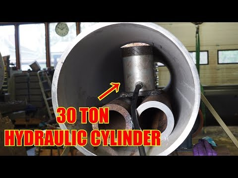 Fixing Dents on Large Stainless Steel Pipe With Hydraulic Cylinder