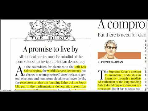 12 March 2019 - The Hindu Editorial News Paper Analysis - [UPSC/SSC/IBPS] by Naveen Yadav