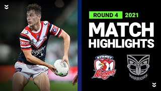 Roosters v Warriors Match Highlights   Round 4, 2021   Telstra Premiership   NRL