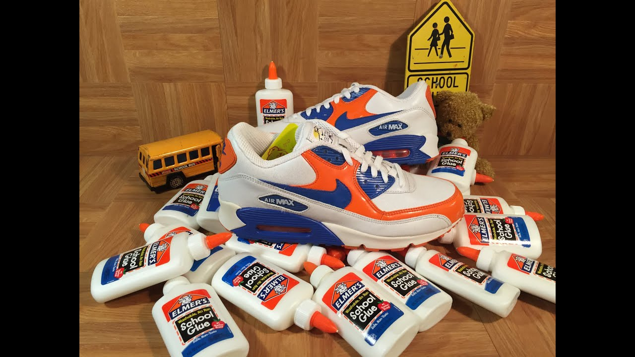ShoeZeum Elmer's Glue Nike Air Max 90 Back To School Shoes
