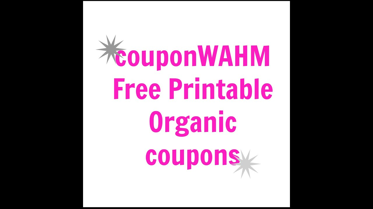 picture regarding Organic Printable Coupons identified as Absolutely free Natural and organic Printable Coupon codes