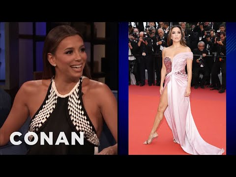 Eva Longoria Left The Hospital To Walk The Red Carpet At Cannes - CONAN on TBS