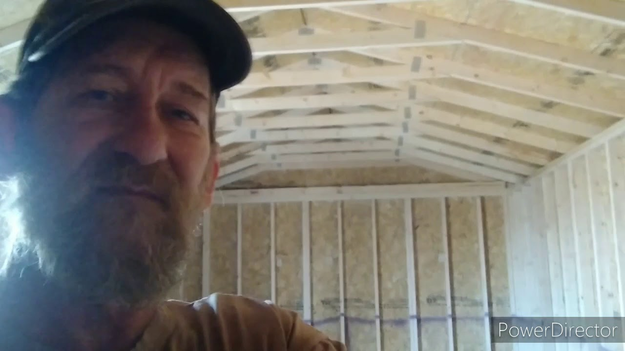 working in the new cabin