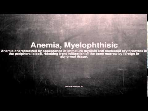 Medical vocabulary: What does Anemia, Myelophthisic mean