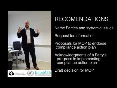 The Montreal Protocol´s Compliance Procedure - Recomendations and measures